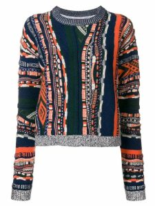 Carven multi-pattern sweater - Blue