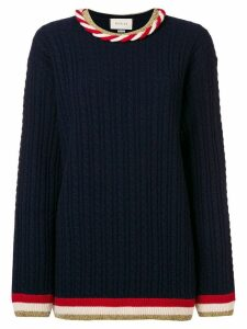 Gucci cable knit jumper - Blue