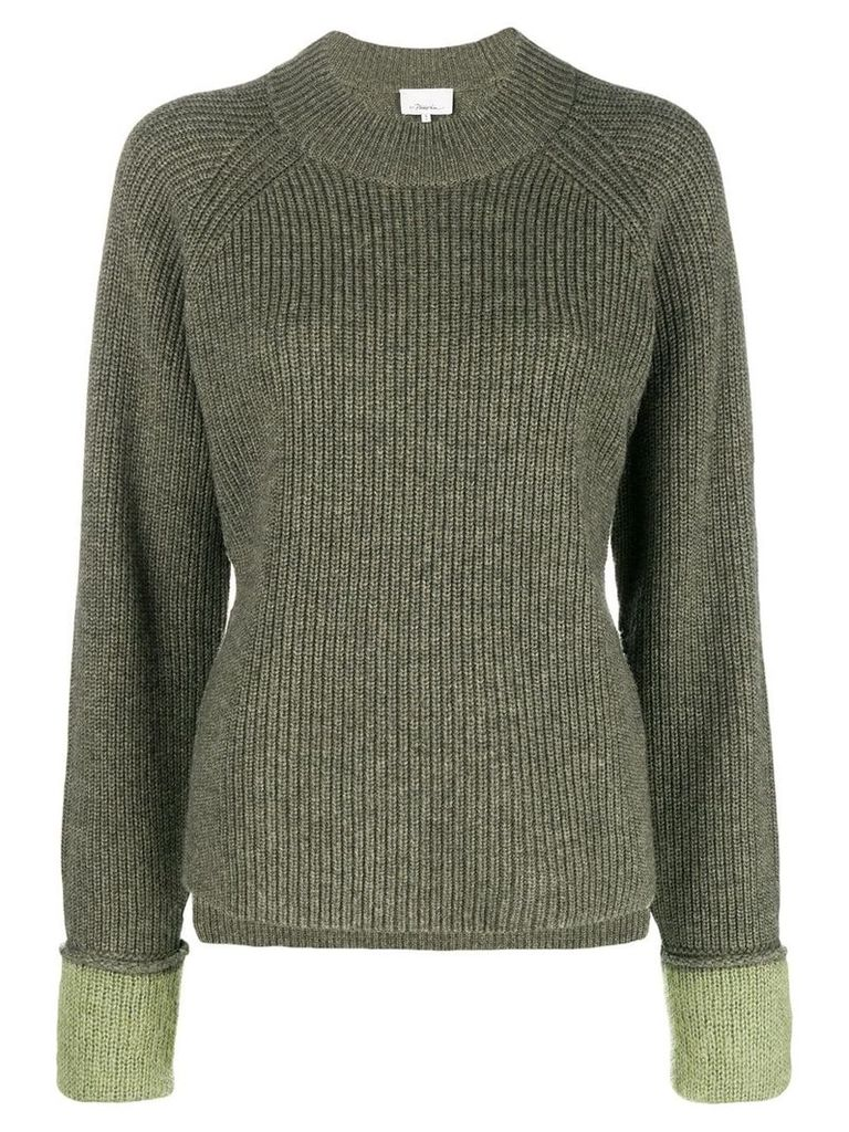 3.1 Phillip Lim Ribbed crew neck pullover - Green