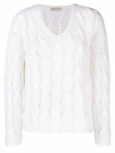 Lamberto Losani cable knit sweater - White