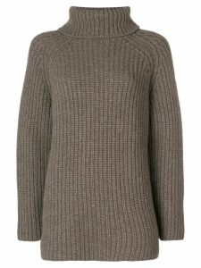 Holland & Holland roll-neck knitted sweater - Brown