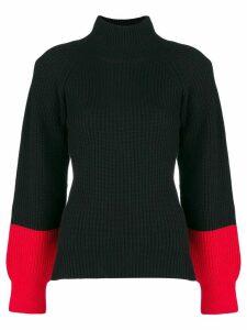 Eudon Choi colourblock turtleneck sweater - Black