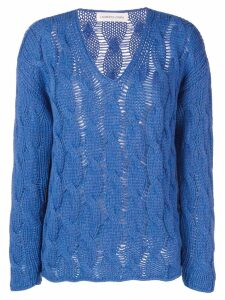 Lamberto Losani cable knit sweater - Blue