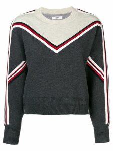 Isabel Marant Étoile Kimo striped trim sweater - Grey