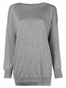 Snobby Sheep boat neck jumper - Grey