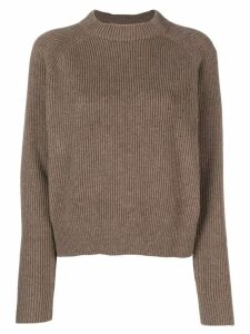 The Row cashmere ribbed design jumper - Brown
