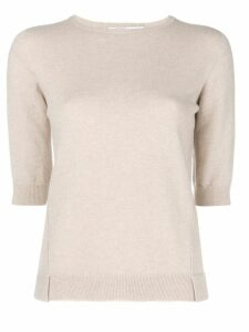 Agnona half sleeve sweater - Neutrals