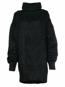 Maison Margiela cable knit sweater - Black