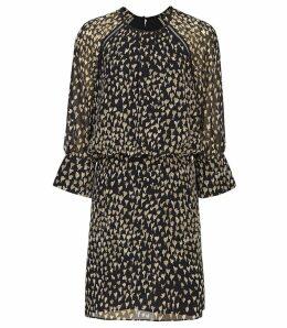Reiss Melania - Ditsy Printed Mini Dress in Multi, Womens, Size 16