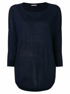 Hemisphere fine knit sweater - Blue