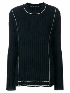 Sara Lanzi contrast ribbed sweater - Blue