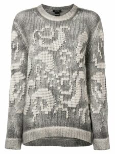 Avant Toi embroidered chunky sweater - Grey
