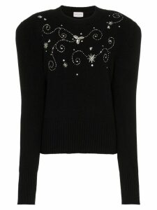 Magda Butrym murray embellished wool jumper - Black