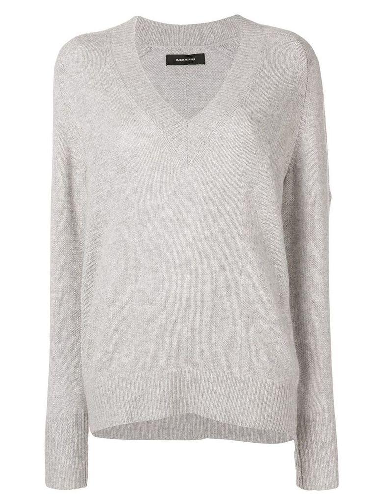 Isabel Marant V-neck knitted jumper - Grey