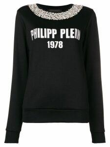 Philipp Plein logo knit jumper - Black