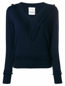 Barrie Romantic Timeless cashmere V neck pullover - Blue