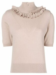 Barrie Flying Lace cashmere turtleneck top - Pink