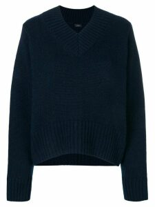 Joseph ribbed V-neck jumper - Blue
