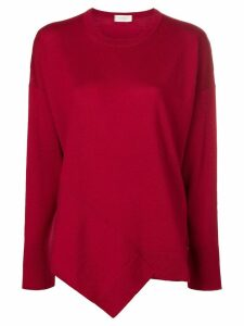 Zanone asymmetric hem jumper - Red