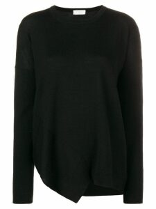 Zanone asymmetric hem jumper - Black
