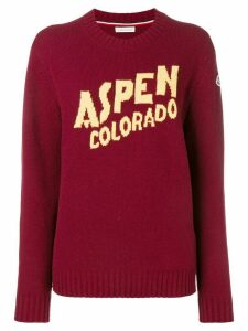 Moncler Aspen cashmere and wool sweater - Red