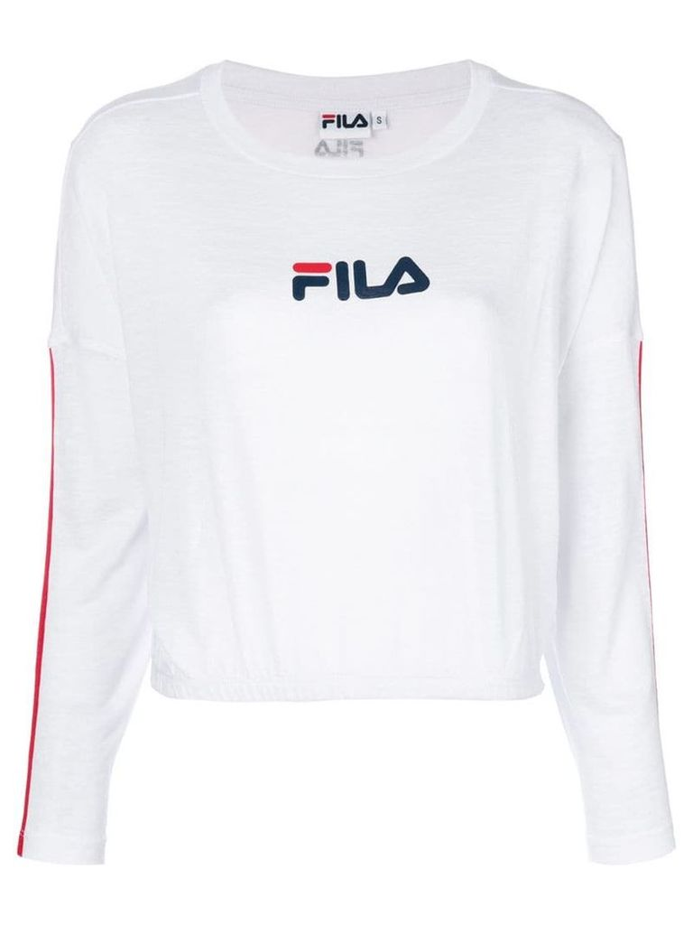 Fila logo print sweater - White