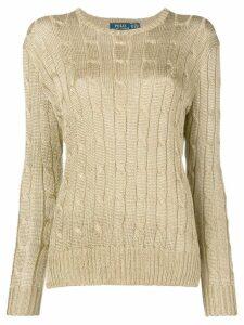 Polo Ralph Lauren cable knit jumper - Metallic