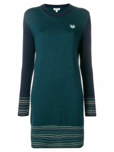 Kenzo long-sleeve fitted dress - Blue