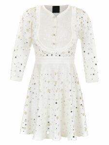 Andrea Bogosian apliqué knitted dress - White