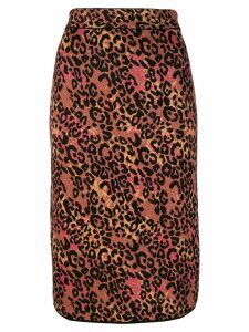M Missoni leopard print pencil skirt - Yellow