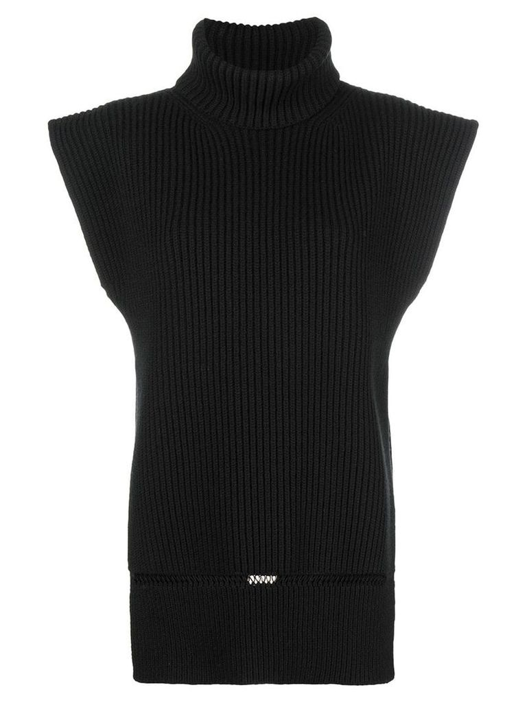 Alexander McQueen roll neck knit top - Black