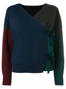 Kenzo wrap front knitted top - Blue