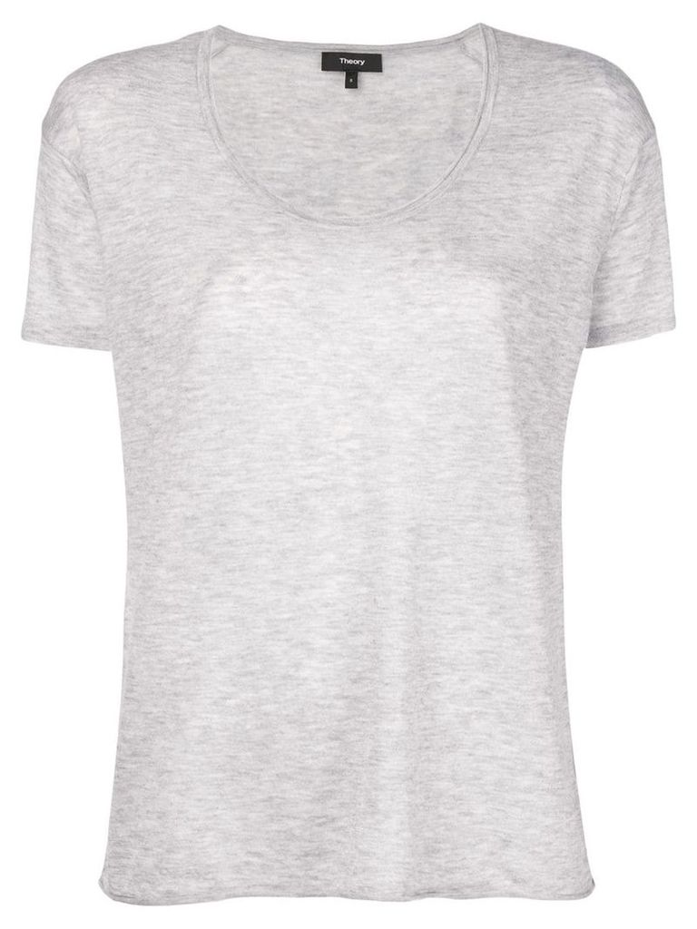 Theory cashmere fine knit top - Grey