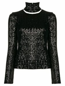 Gianluca Capannolo embellished turtle-neck top - Black