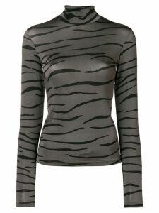 Ssheena tiger print top - Grey