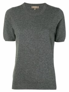N.Peal round neck knitted T Shirt - Grey