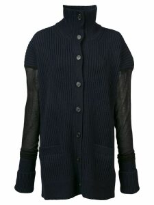 Maison Margiela sheer sleeve cardigan - Blue