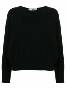 Allude tie back knit top - Black