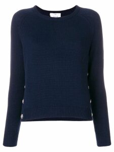 Allude knit button detail sweater - Blue