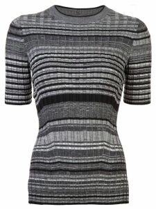 Helmut Lang striped knitted top - Grey