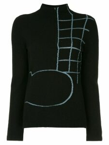 Onefifteen embroidered knit sweater - Black