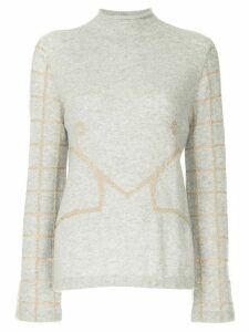 Onefifteen embroidered knit sweater - Grey
