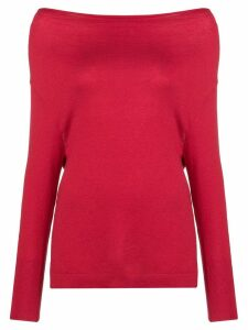 Snobby Sheep cowl neck fine knit top - Red