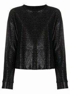 RtA metallic knit top - Black