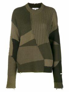 Helmut Lang grunge sweatshirt - Green
