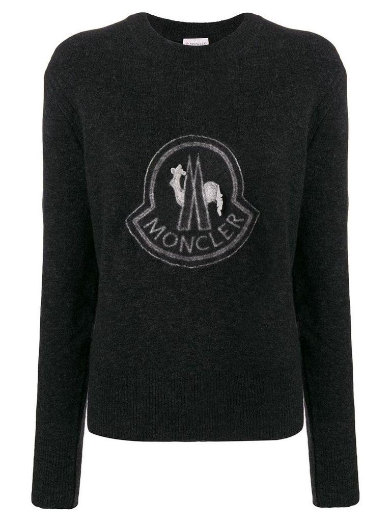 Moncler logo sweatshirt - Grey