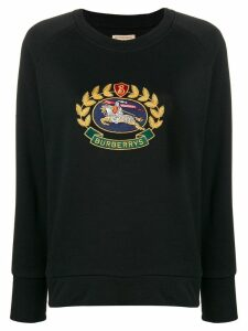 Burberry Embroidered Archive Logo Sweatshirt - Black