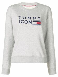 Tommy Hilfiger Tommy Icons embroidered sweatshirt - Grey