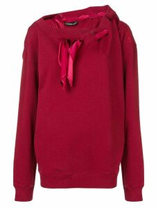 Y/Project scarf detail sweatshirt - Red