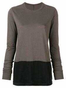 Rick Owens DRKSHDW two tone T-shirt - Grey